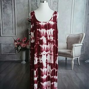 Rouge Collection Women's Plus Size Dress Wine 4X